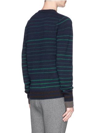 背面 - 点击放大 - SACAI - Stripe wool sweater