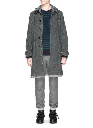 模特儿示范图 - 点击放大 - SACAI - Stripe wool sweater