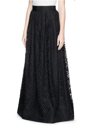 Front View - Click To Enlarge - ST. JOHN - Camellia crochet lace maxi gown skirt