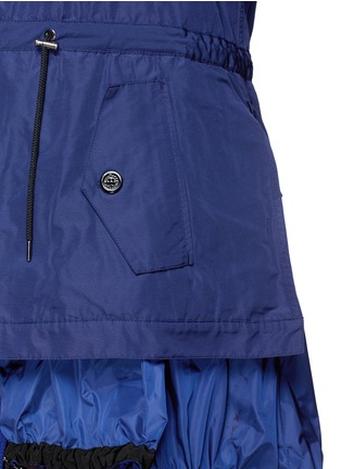 Detail View - Click To Enlarge - Moncler - 'Charline' ruffle nylon hem windbreaker jacket