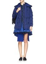 'Charline' ruffle nylon hem windbreaker jacket