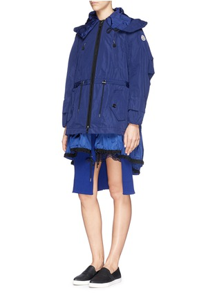 Front View - Click To Enlarge - Moncler - 'Charline' ruffle nylon hem windbreaker jacket