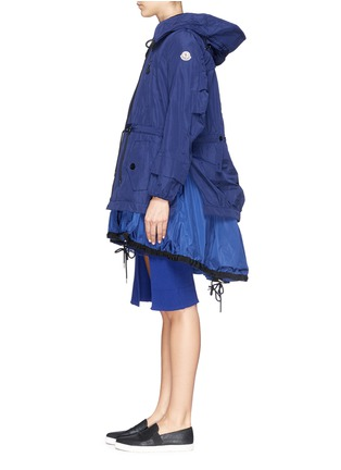 Figure View - Click To Enlarge - Moncler - 'Charline' ruffle nylon hem windbreaker jacket