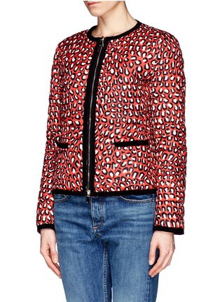 Front View - Click To Enlarge - Moncler - 'Miel' funky leopard print reversible down jacket