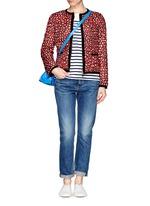 'Miel' funky leopard print reversible down jacket