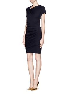 LANVINPin shoulder drape knit dress