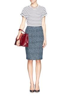 ST. JOHNShimmer bouclé wool-blend knit pencil skirt