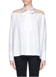 VALENTINOSheer organza tie front shirt