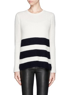 VINCE Stripe chunky knit sweater