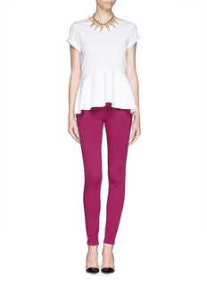 EMILIO PUCCI Slanted zip stretch leggings