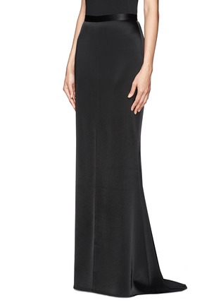 Front View - Click To Enlarge - ST. JOHN - Liquid satin flare maxi skirt