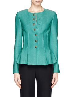 ST. JOHN Hopsack exposed dart peplum jacket