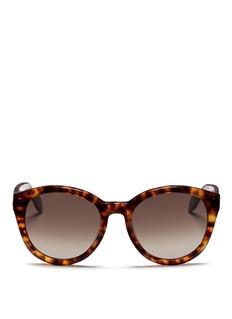 ALEXANDER MCQUEENSkull stud cat-eye sunglasses