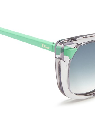 Detail View - Click To Enlarge - Dior - 'Chromatic 1' contrast temple cutout corner sunglasses