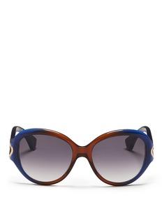 ALEXANDER MCQUEENOmbré acetate cat eye sunglasses