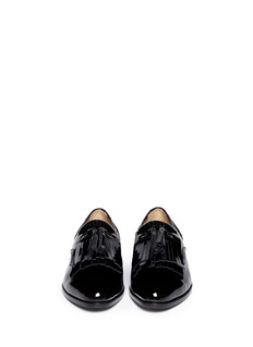 LANVIN Patent leather tassel slip-ons