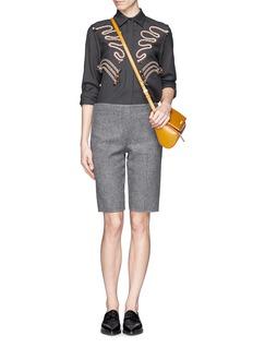 STELLA MCCARTNEYRope embroidery wool twill tailored shirt