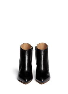 MAISON MARTIN MARGIELADégradé sculpture heel leather boots