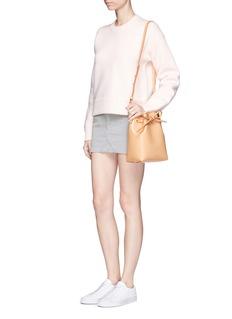 Topshop'Cord' cotton high waist cutoff skirt