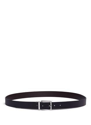 Main View - Click To Enlarge - Armani Collezioni - Reversible stripe leather belt