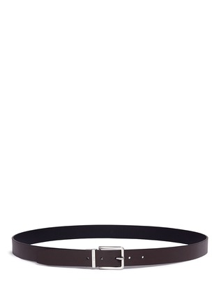 Figure View - Click To Enlarge - Armani Collezioni - Reversible stripe leather belt
