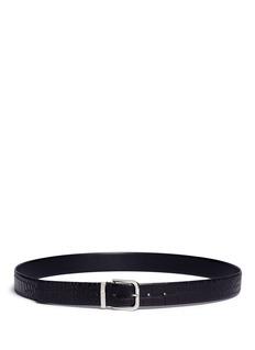 Armani CollezioniCroc embossed leather belt