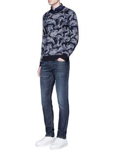 Armani CollezioniCamouflage cotton sweater