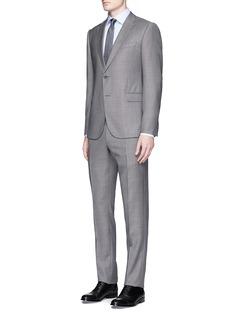 Armani Collezioni'Metropolitan' diamond weave wool suit