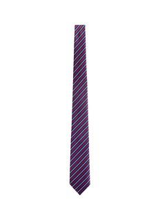 Armani CollezioniStripe silk repp tie