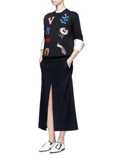 VICTORIA, VICTORIA BECKHAMLogo appliqué cotton sweatshirt