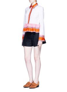 Emilio PucciFloral silk scarf belt shorts