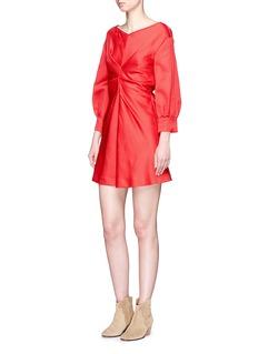 Isabel Marant'Rad' ruched centre satin dress