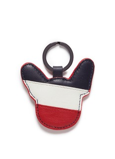 Etre Cecile  Stripe dog face keyring