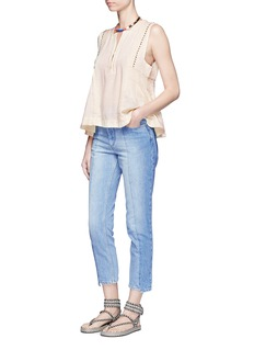 Isabel Marant Étoile'Clancy' staggered cuff cropped denim pants