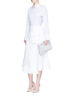 ValentinoBell cuff stripe cotton poplin shirt