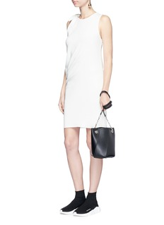 Acne Studios 'Sail' knotted shoulder stretch crepe tunic dress