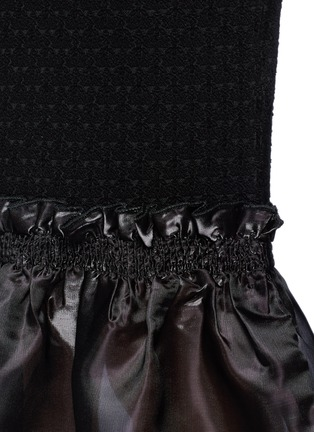 Detail View - Click To Enlarge - Opening Ceremony - Organdy ruffle floral jacquard midi skirt