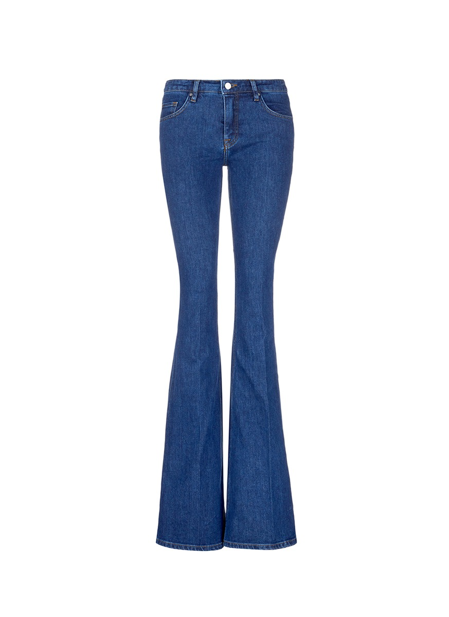 High rise slim fit flared jeans by VICTORIA, VICTORIA BECKHAM