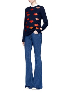 VICTORIA, VICTORIA BECKHAM High rise slim fit flared jeans