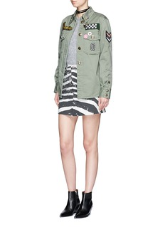 Marc Jacobs Zebra print stonewashed denim skirt