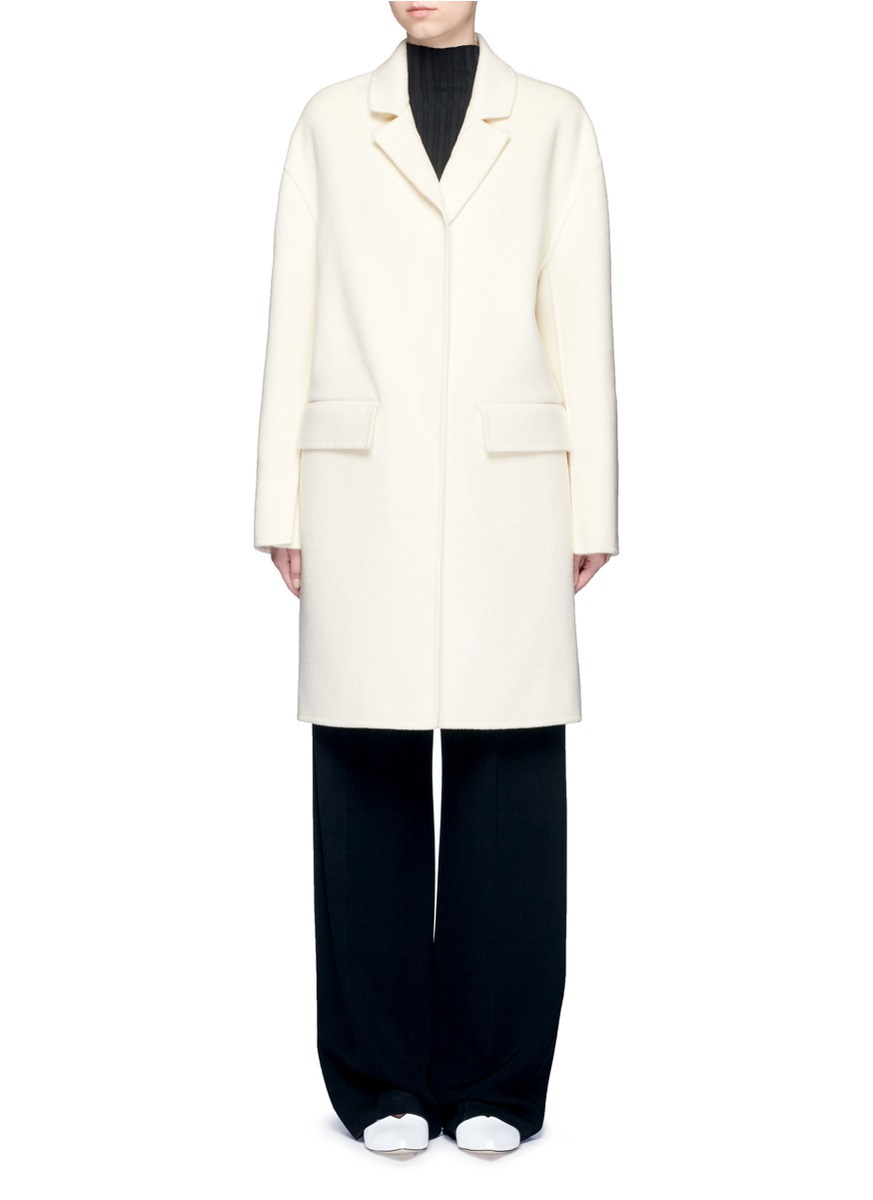 Notched lapel wool coat by Ms MIN