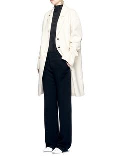 Ms MINNotched lapel wool coat
