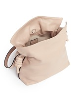 'Flamenco Knot' small leather tote bag