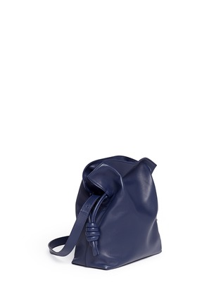 Front View - Click To Enlarge - Loewe - 'Flamenco Knot' small leather tote bag