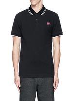 Swallow skull patch appliqué polo shirt