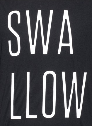 Detail View - Click To Enlarge - McQ Alexander McQueen - 'Swallow' slogan print T-shirt