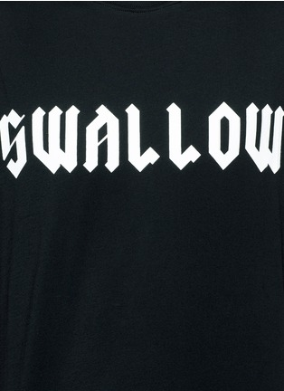 Detail View - Click To Enlarge - McQ Alexander McQueen - 'Swallow' slogan print sleeveless T-shirt