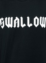 'Swallow' slogan print sleeveless T-shirt