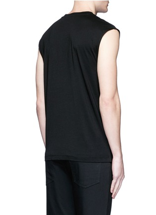 Back View - Click To Enlarge - McQ Alexander McQueen - 'Swallow' slogan print sleeveless T-shirt