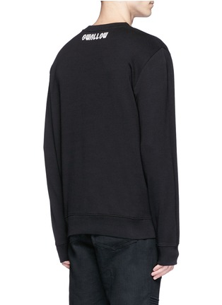 Back View - Click To Enlarge - McQ Alexander McQueen - Swallow skull print sweatshirt